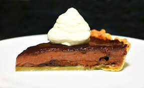 cuisine prune prune and chocolate custard tart food perestroika
