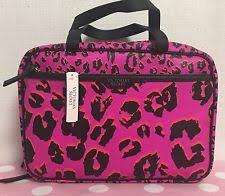 nwt victoria s secret print pink cosmetic makeup case weekender bag