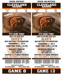 printable birthday party invitation card cleveland browns