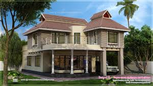 two storey contemporary fusion villa exterior kerala home design