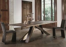 bonaldo big dining table in american walnut with natural edges