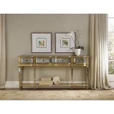 sanctuary 4 drawer console table console table hooker furniture antique gold console table