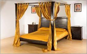 4 Poster Bed With Curtains Monsooncraft Com Indian Hardwood Carved Canopy Bed Designs