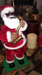 black santa claus saxophone