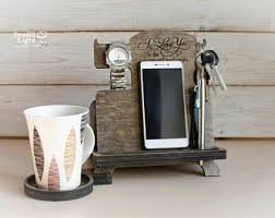 wood iphone station phone stand unique gift for