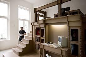 cardboard office interior by alrik koudenburg and joost van bleiswijk