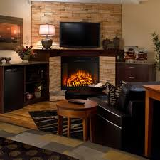 electric fireplace insert with heater interior design