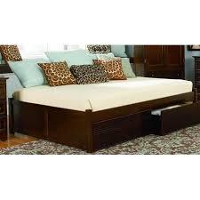 Flat Platform Bed Frame by Concord Platform Bed W Flat Panel Footboard Color Antique Walnut