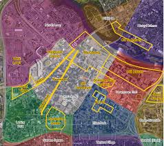 Minneapolis Metro Map by Map Monday Downtown Minneapolis Neighborhoods Streets Mn