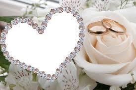 cadre photo mariage joli coeur pour photo de mariage