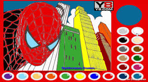spiderman coloring spiderman games free online games youtube