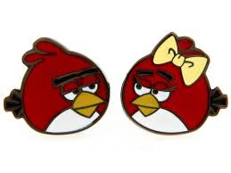 shirt colour plated angry birds red bird couples novelty cufflinks