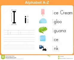 alphabet tracing worksheet writing a z stock vector image 44973643