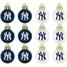 buy topperscot mlb new york yankees home and away glass ornament