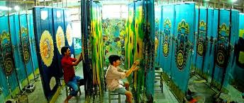 Painted Bamboo Curtains Bamboo Bead Curtain Is Traditional Handicraft In Cu Chi