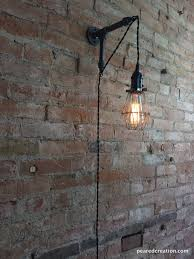 Plug In Sconces Wall Lamps Edison Sconce Industrial Furniture Bulb Cage Wall Sconce