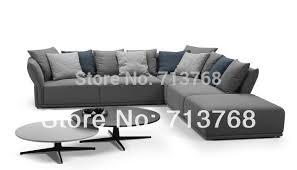 canapé avec pouf mobilier moderne nouveau modèle tissu sofa sectionnel avec