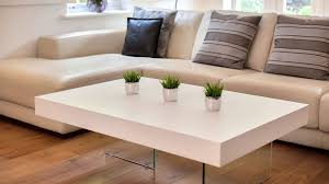 white wood coffee table large modern white oak coffee table funky tempered clear glass legs