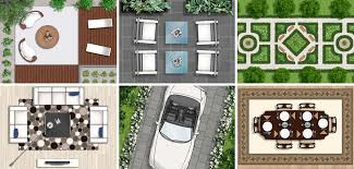 top view furniture for floor plans and landscape designs