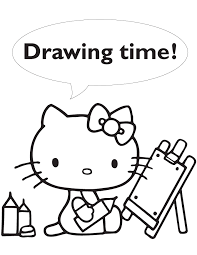 hello kitty drawing time coloring page h u0026 m coloring pages