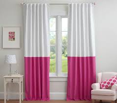 Navy And Pink Curtains Color Block Blackout Panel Pottery Barn Kids