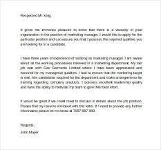 marketing cover letter marketing cover letter example sample