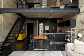 Industrial Home Interior Design by Industrial Loft By Diego Revollo Arquitetura