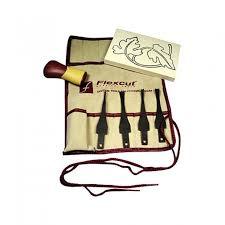 Wood Carving Starter Kit by Flexcut Craft Carvers Set And Strop Flexcut Tools Rockler