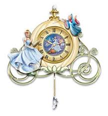 cinderella sculpted wall clock midnight u0027s spell by the bradford