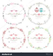 Vintage Floral Frame For Invitation Wedding Baby Shower Card Floral Frame Cute Retro Flowers Arranged Stock Vector 371329357