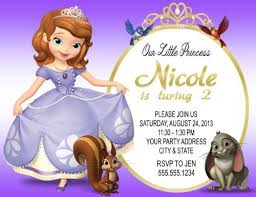 sofia the birthday party sofia the princess birthday party invitations personalized