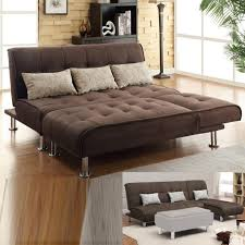 Ebay Sectional Sofa Brown Microfiber 2 Pc Sectional Sofa Futon Chaise Bed