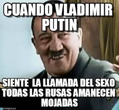 Vladimir Putin Meme - cuando vladimir putin hitler riendo meme on memegen