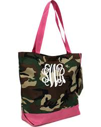 spectacular deal on monogram camo tote bag personalized camo tote