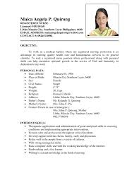 Sample Resume Format for Fresh Graduates   One Page Format   happytom co