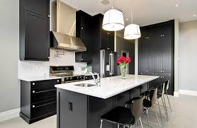 Kitchen Colors With Black Cabinets Black And White Kitchen Ideas
