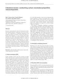 literature review conducting carbon nanotube polyaniline