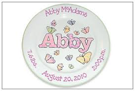 baby birth plates personalized baby namesake personalized birth plate serendipity crafts