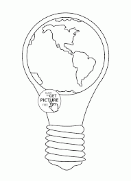 earth hour earth day coloring page for kids coloring pages