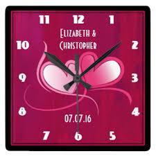 Personalized Wedding Clocks Commemorative Wall Clocks Zazzle