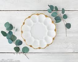 white deviled egg plate deviled egg plate etsy