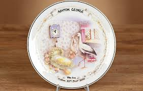 birth plate keepsake personalised early days birth plate i just it