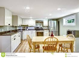 basement kitchen room mother in law apartment stock photo image