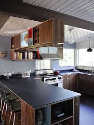 Kitchen Peninsula Cabinets Peninsula With Upper Cabinets Houzz
