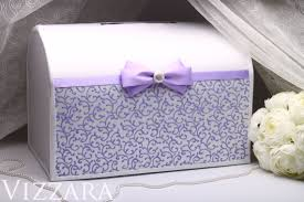 Wedding Gift Card Holder Wedding Card Box Lilac Hand Painted Gift Card Holder Money Box