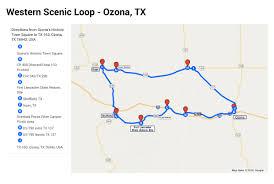 ozona map western frontier itinerary ozona