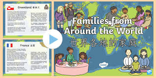 my family ks1 families around the world powerpoint
