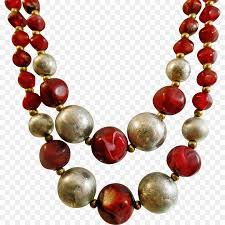 red fashion necklace images Pearl necklace beadwork silver red jewelry png download 1988 jpg