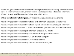 top 10 primary teaching assistant interview questions and answ u2026