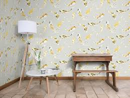 harlequin koi wallpaper design in the saffron colourway dining